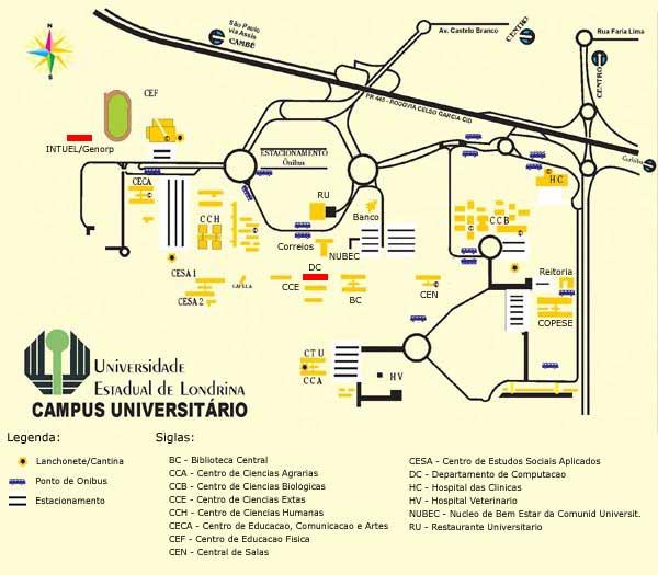 Mapa Uel