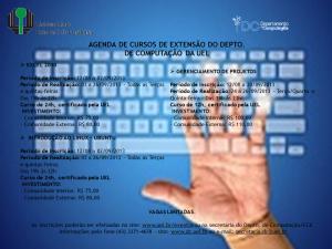 Agenda de cursos de Extensão do DC/UEL