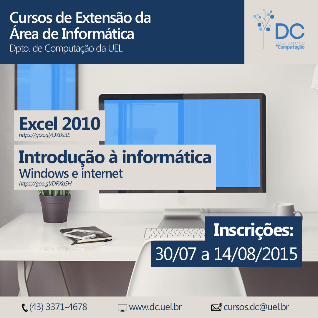 Cursos de Extensão na Área de Informática – DC/UEL