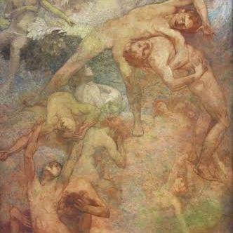 VISCONTE, Eliseu. O Progresso. Painel. 2,95x1,82m. Biblioteca Nacional do Rio de Janeiro/RJ, 1911 (detalhe)